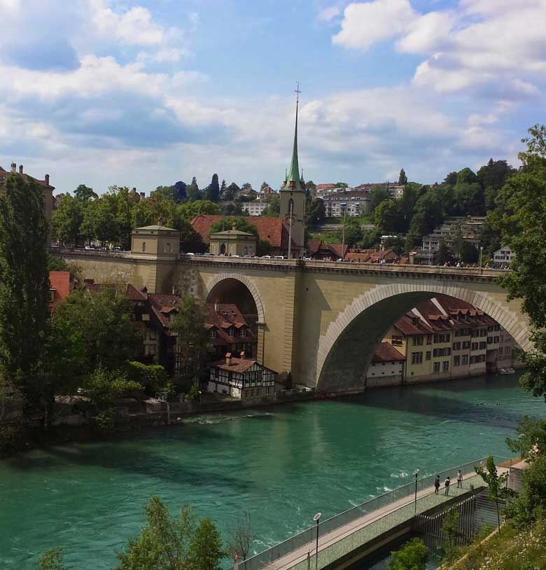 Aare River in Bern, Switzerland