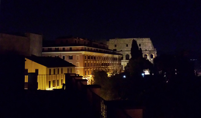 Colosseum from our balcony!