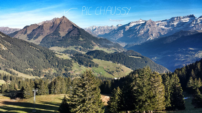 Pic Chaussy from Leysin