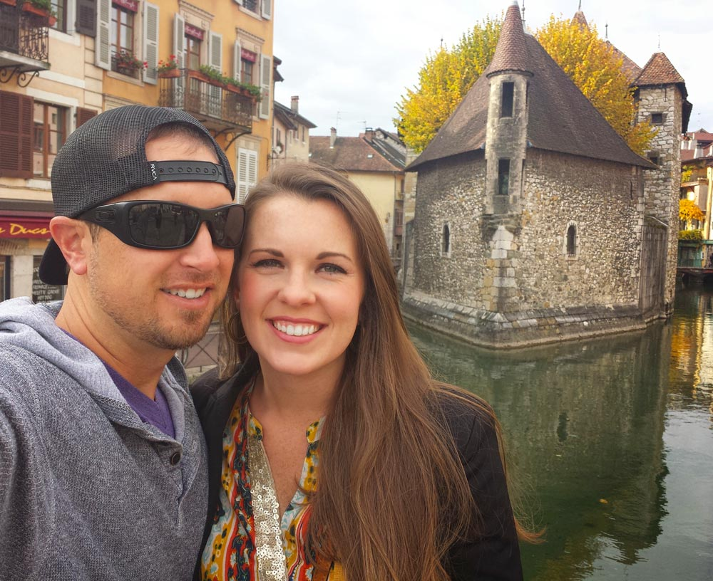 Palais de l'ile Annecy Me and Kelley