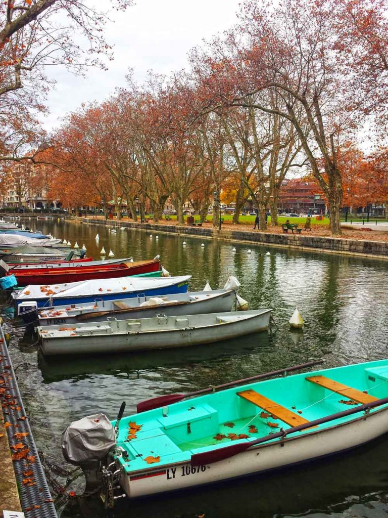 Annecy Canal in Fall