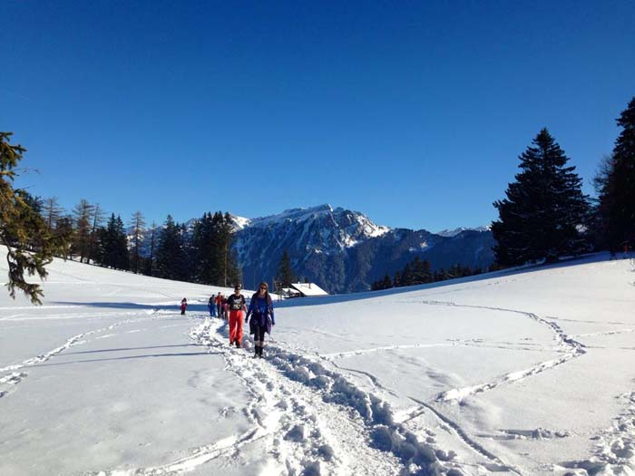 Snowshoe in Leysin, Switzerland