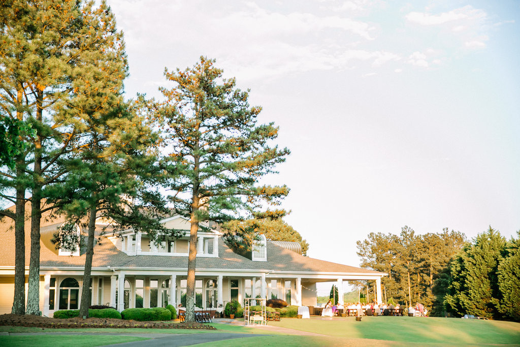 Our wedding at the Chateau Elan Legends Clubhouse
