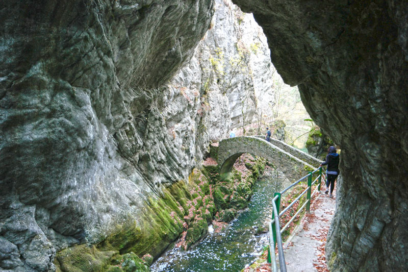 Hiking in the Areuse Gorge